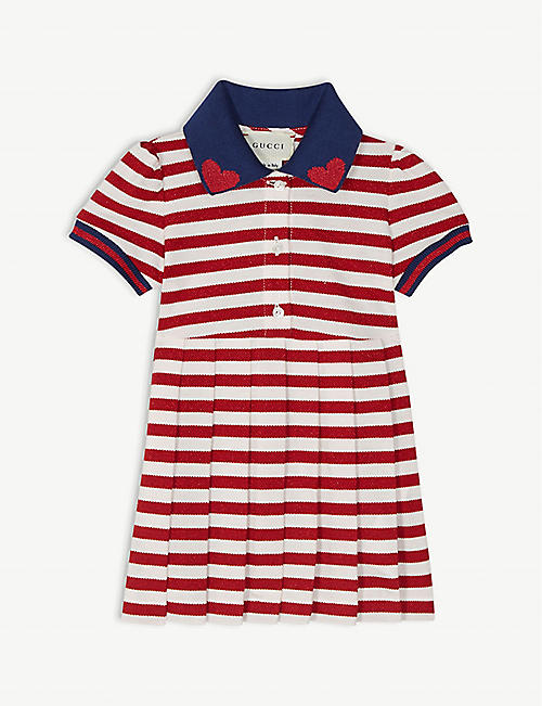GUCCI Glitter stripe short sleeves dress 9-12 months