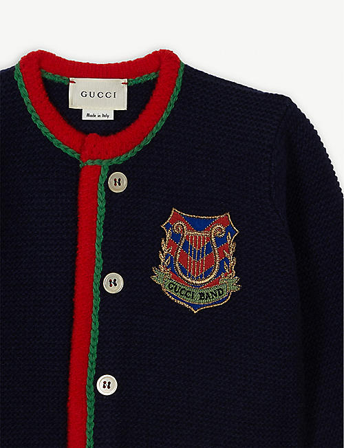GUCCI Gucci band wool cardigan 3-36 months