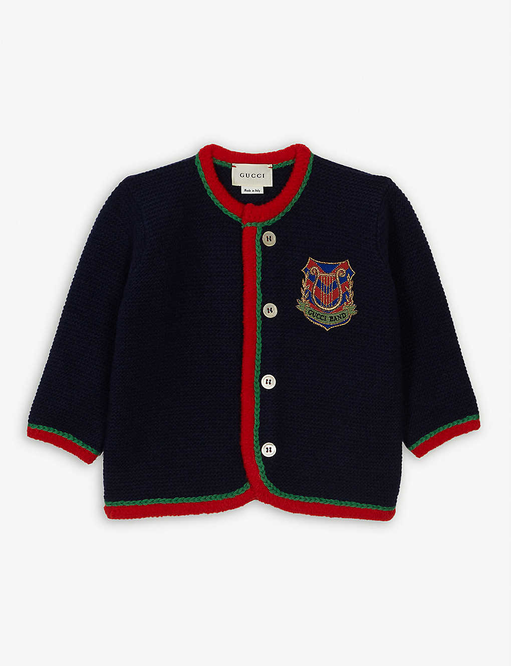 GUCCI: Gucci band wool cardigan 3-36 months