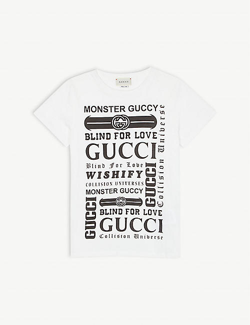 a3edc4ff GUCCI Blind For Love cotton T-shirt 4-12 years