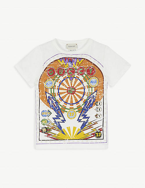 GUCCI Pinball graphic cotton T-shirt 4-12 years