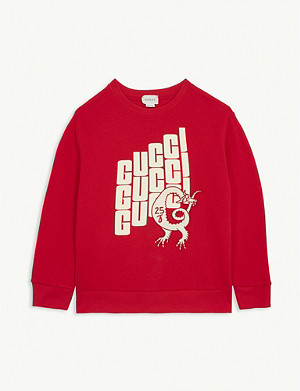 GUCCI Dragon patch cotton sweatshirt 4-12 years