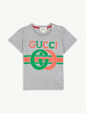 GUCCI GG logo cotton T-shirt 3-36 months