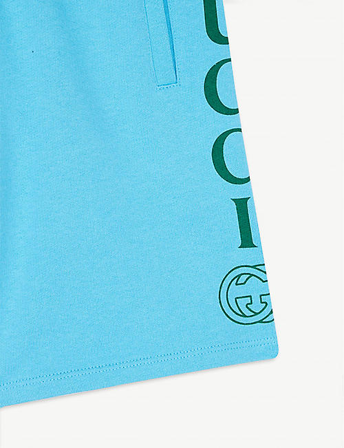 GUCCI Logo cotton shorts 4-10 years