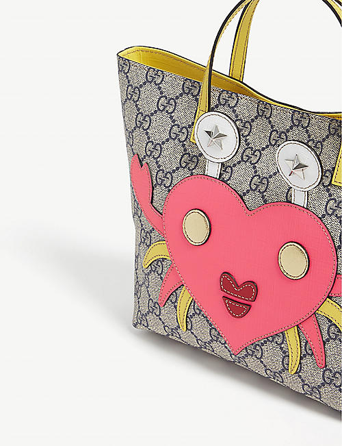 GUCCI GG crab heart canvas tote bag