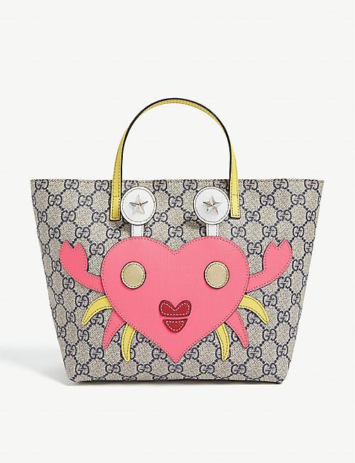 28e87a1c0a6 GUCCI GG crab heart canvas tote bag