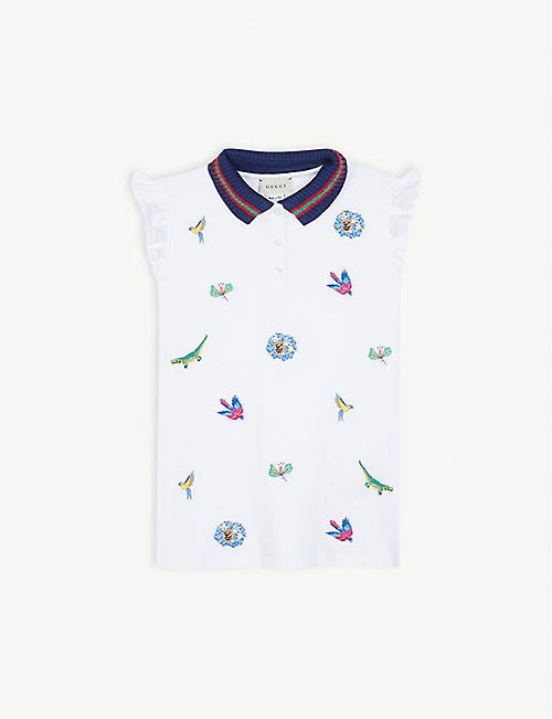 3222482bf GUCCI Animal embroidery sleeveless top 4-12 years