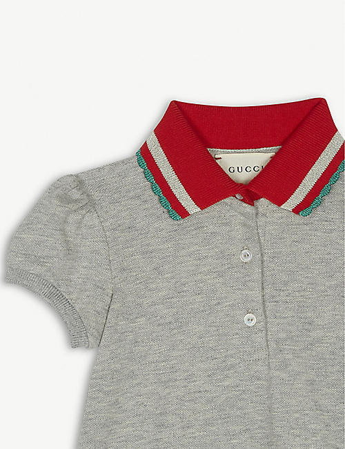 GUCCI Cotton polo dress 12-18 months