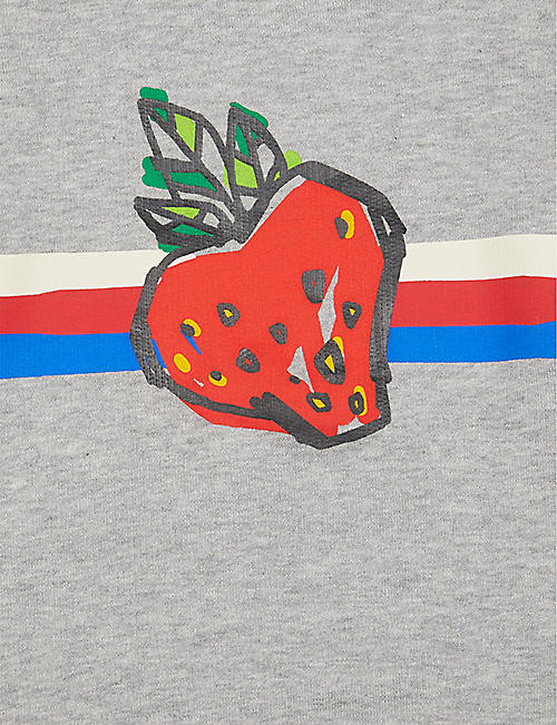 GUCCI Fruit-print cotton sweatshirt 12-36 months