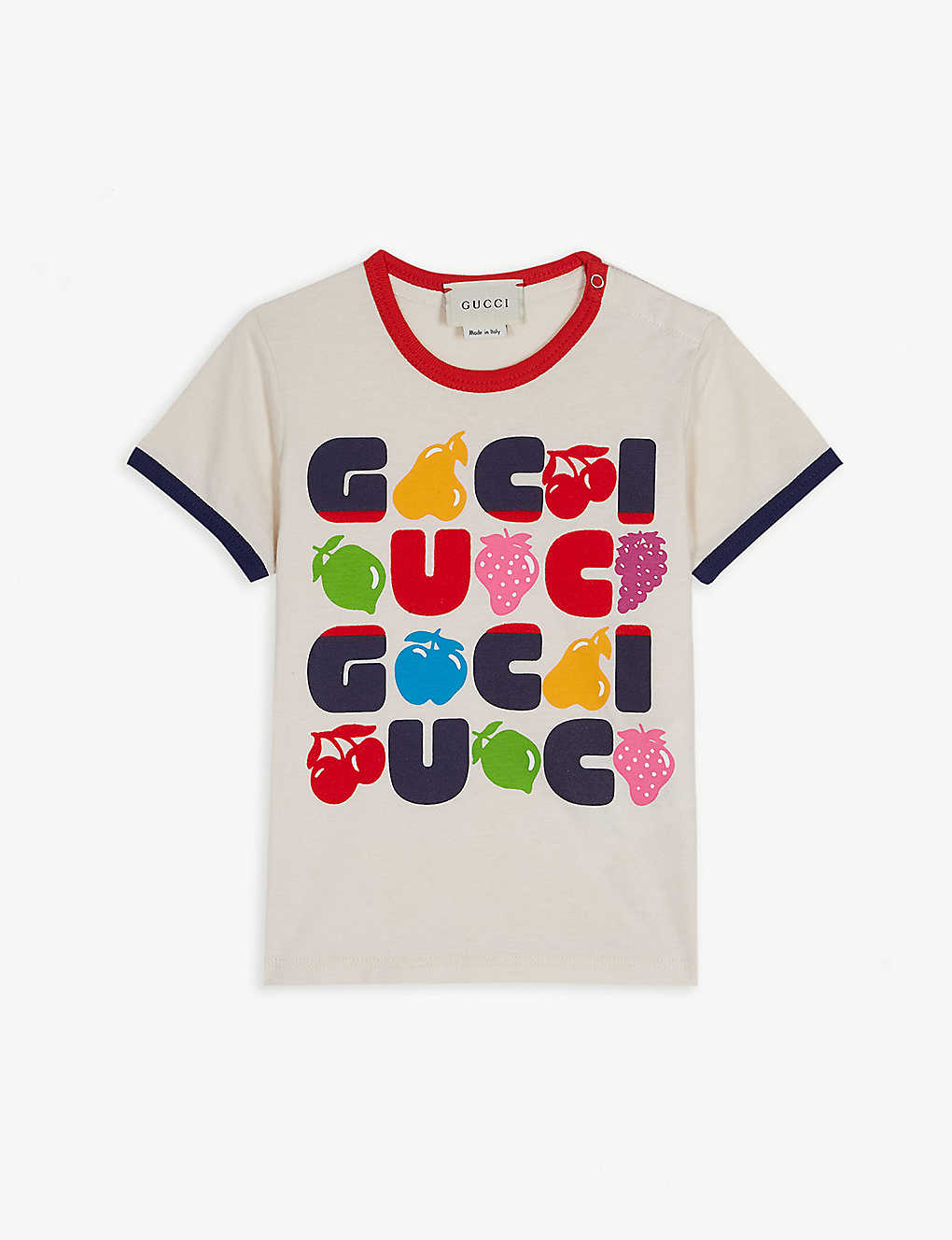 2b4c4f3f4fd Fruit logo cotton T-shirt 6-36 months - White ...
