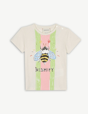 GUCCI Bee logo cotton T-shirt 6-36 months