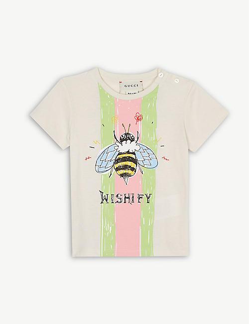 de984312e9b GUCCI Bee logo cotton T-shirt 6-36 months