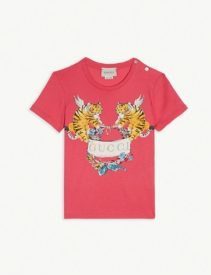 GUCCI Flying tiger logo T-shirt 12-18 months