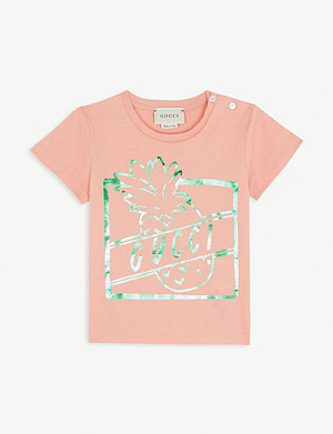 GUCCI Pineapple cotton T-shirt 6-36 months