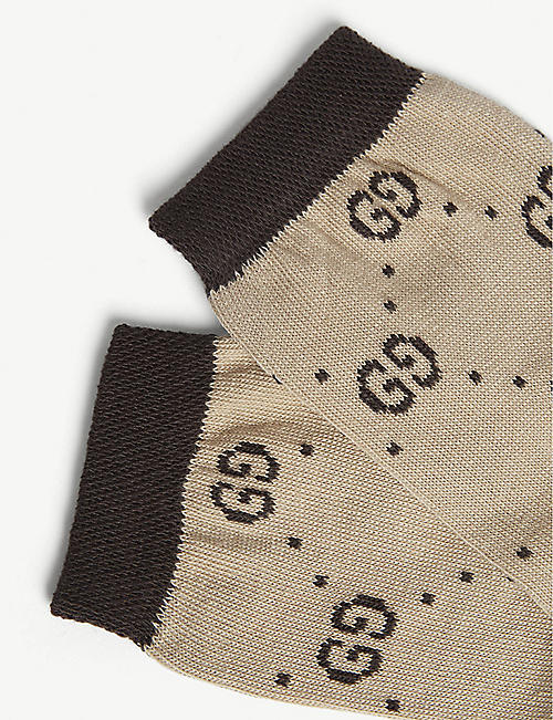 GUCCI GG monogram cotton-blend socks 6-10 years