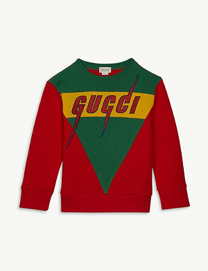 GUCCI Blade logo cotton sweatshirt 4-12 years