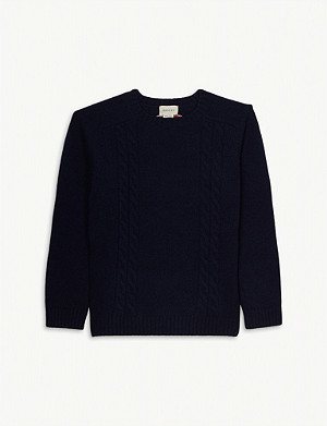 GUCCI Cable knit jumper 4-12 years