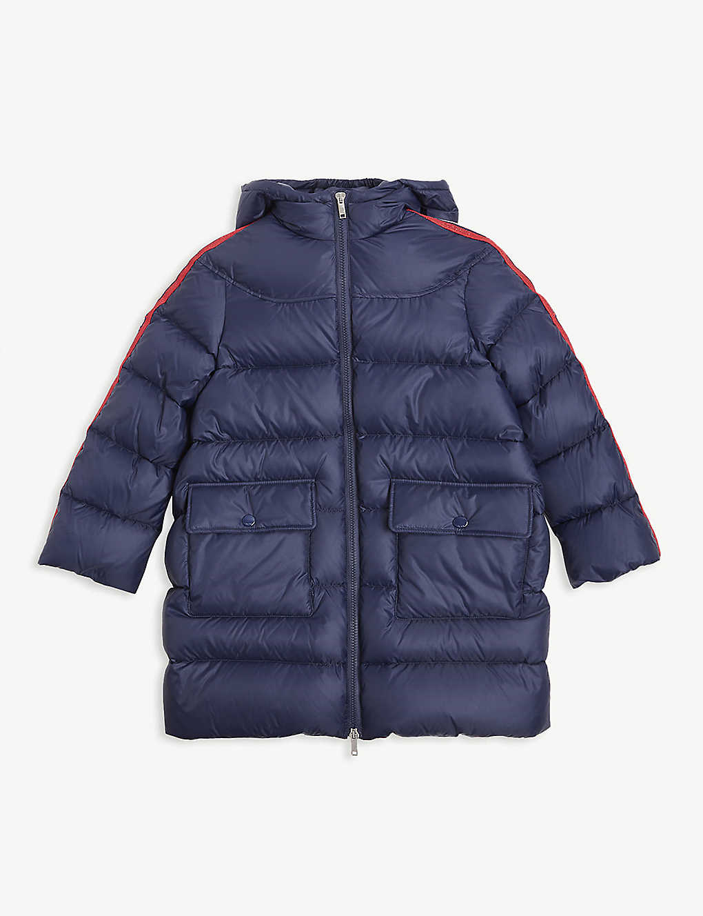 GUCCI: Padded down longline coat 8-12 years