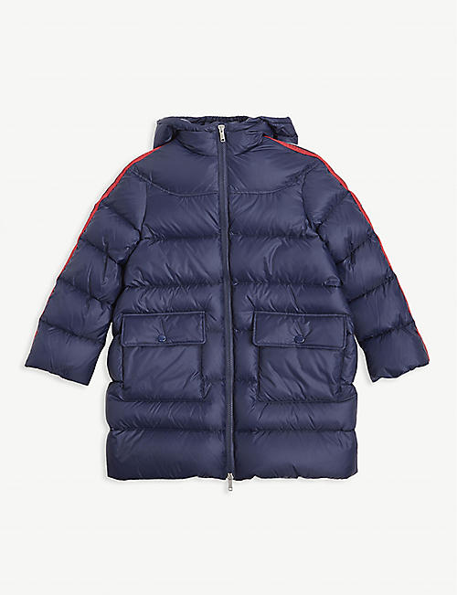 GUCCI Padded down longline coat 8-12 years