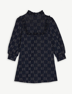 GUCCI Glitter GG logo dress 4-12 years
