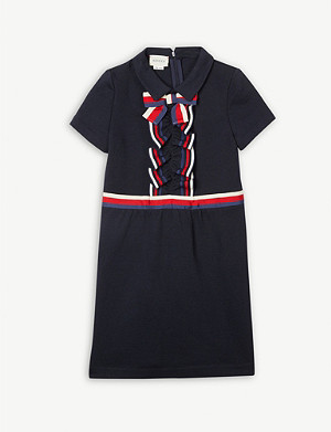 GUCCI Ribbon front cotton dress 4-12 years