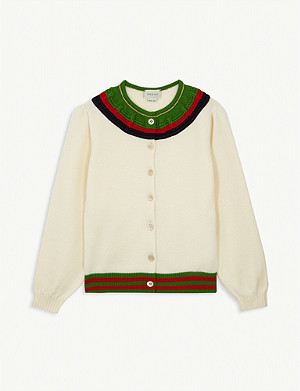 GUCCI Striped knitted wool cardigan 6-12 years