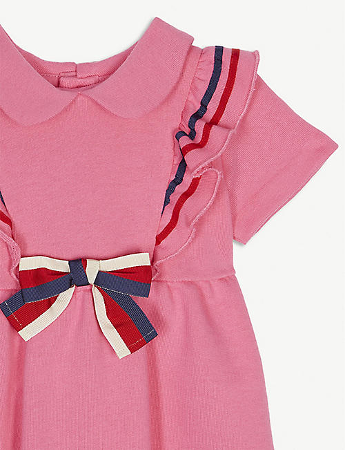 GUCCI Sylvie ribbon cotton dress 3-36 months
