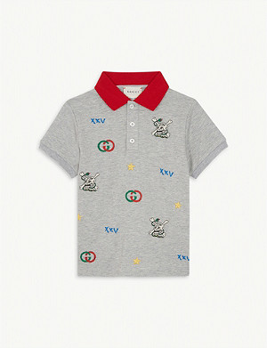 GUCCI Skull and logo cotton polo shirt 4-12 years