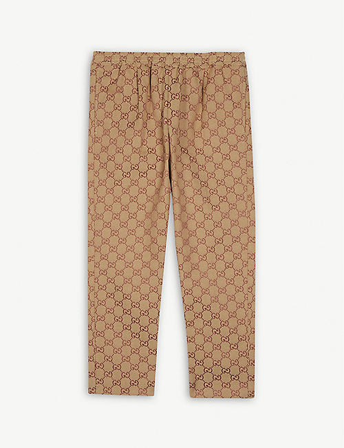 GUCCI GG logo cotton trousers 8-12 years