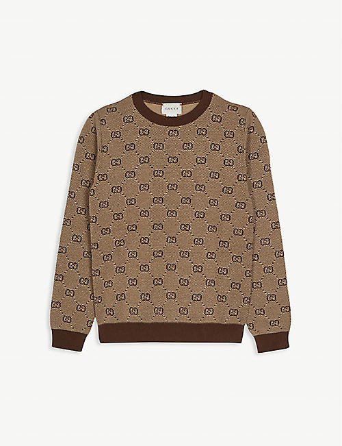 GUCCI: GG logo wool jumper 4-12 years