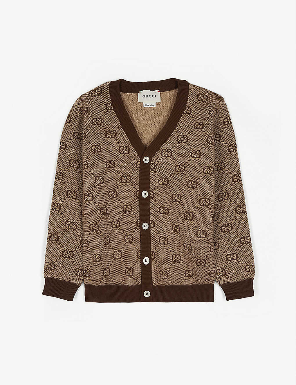 GUCCI: GG web wool-blend cardigan 2-3 years