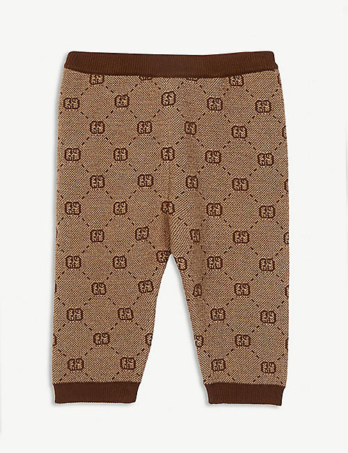 GUCCI: GG print knitted trousers 3-36 months
