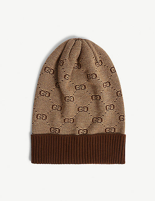 GUCCI: GG Supreme print wool beanie 4-12 years