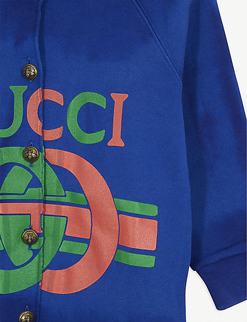 GUCCI GG insignia logo cotton cardigan 4-12 years