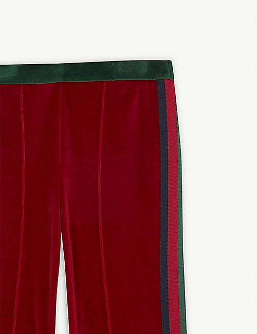 GUCCI Flared velvet trousers 8-12 years