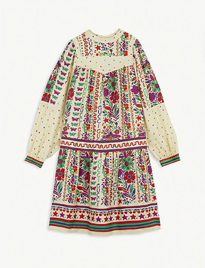 GUCCI Butterfly and floral print woven dress 6-12 years