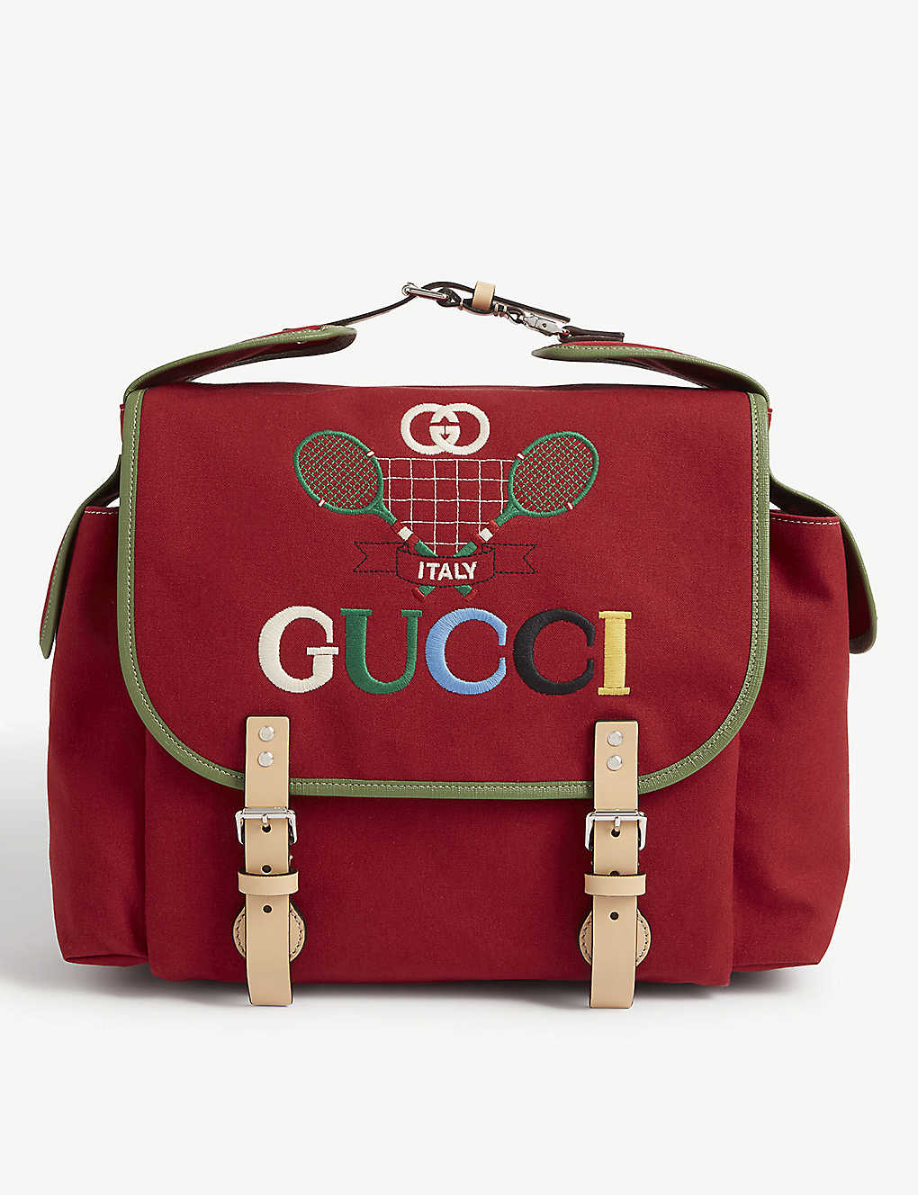 GUCCI: Kids tennis patch canvas backpack
