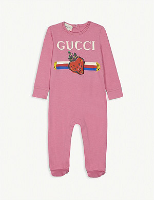 GUCCI Logo print sleepsuit 0-12 months