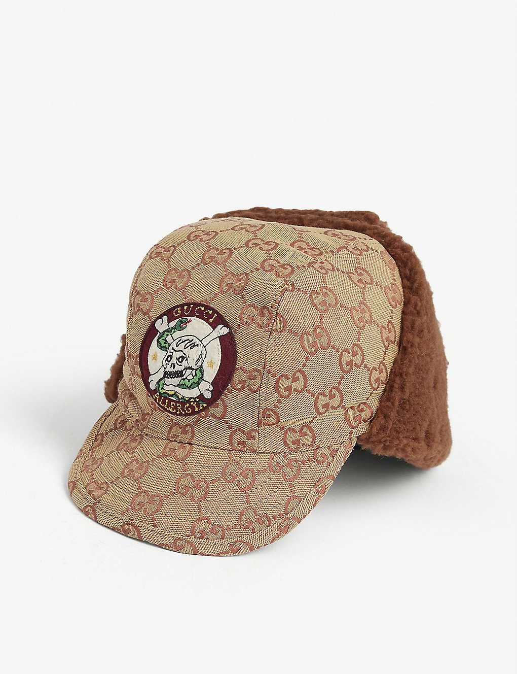 GUCCI: Kids Edgar faux-fur flap baseball cap