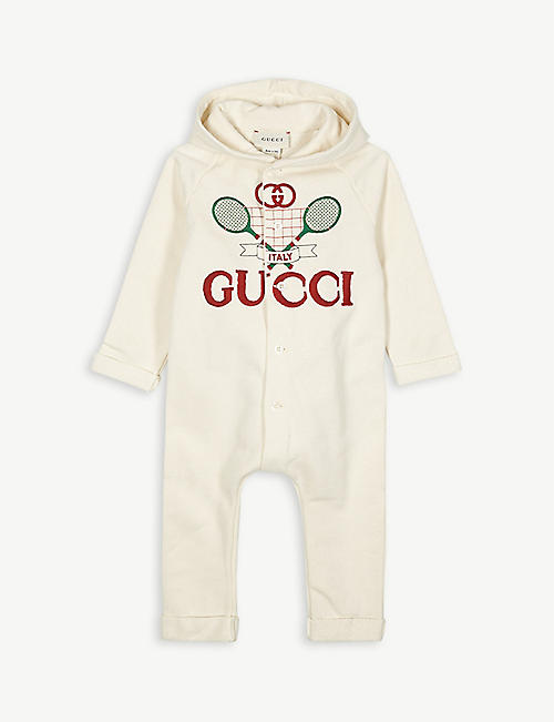 GUCCI Tennis print cotton all-in-one