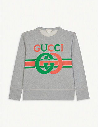 GUCCI: GG logo cotton jumper 4-10 years