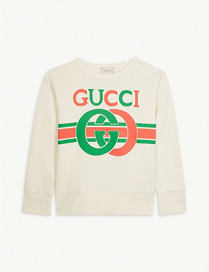 GUCCI GG logo cotton sweater 4-14 years