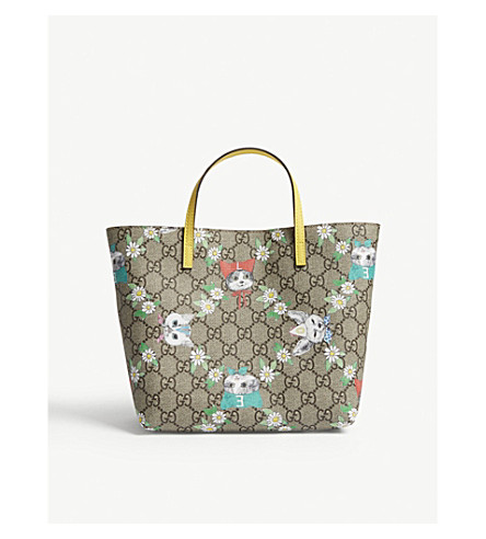 0d3902e37741 GUCCI - GG Supreme cat print tote bag | Selfridges.com