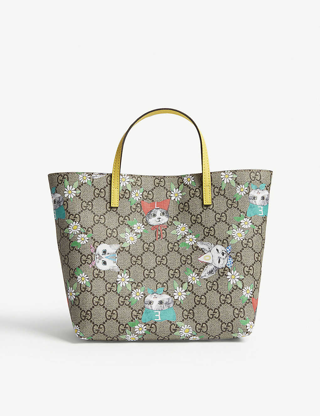 b9195f04318 GUCCI - GG Supreme cat print tote bag