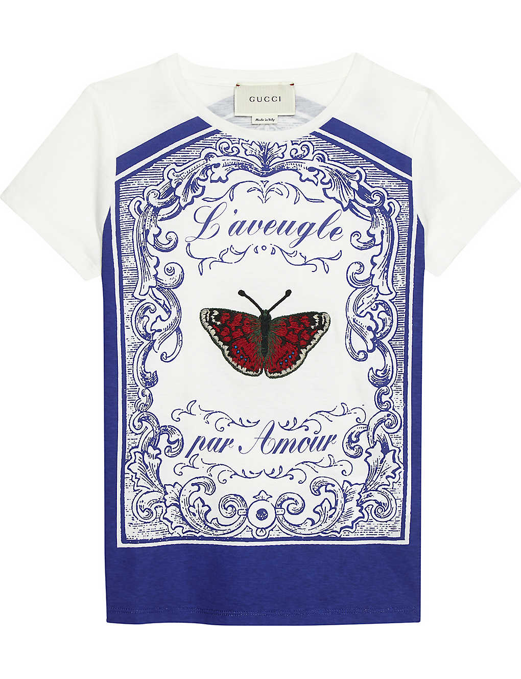 5d2113db1c80 GUCCI - Baroque butterfly cotton T-shirt 4-12 years | Selfridges.com