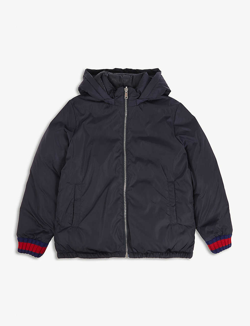 8efca0809 GUCCI - Reversible 'GG' jacquard quilted jacket 4-12 years ...
