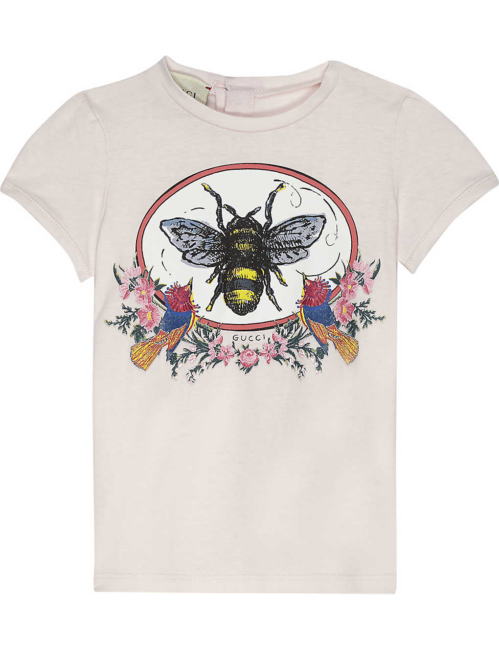 c33667d8f728 GUCCI - Bee print cotton T-shirt 6-36 months | Selfridges.com