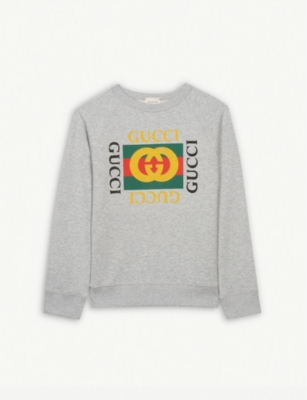 GUCCI 'GG' logo cotton sweatshirt 4-12 years