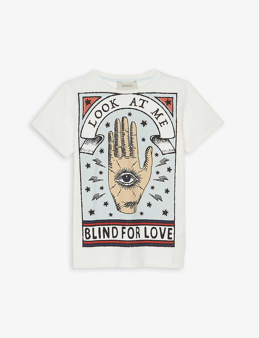 5332ca29 GUCCI - Blind for love cotton T-shirt 6-12 years | Selfridges.com