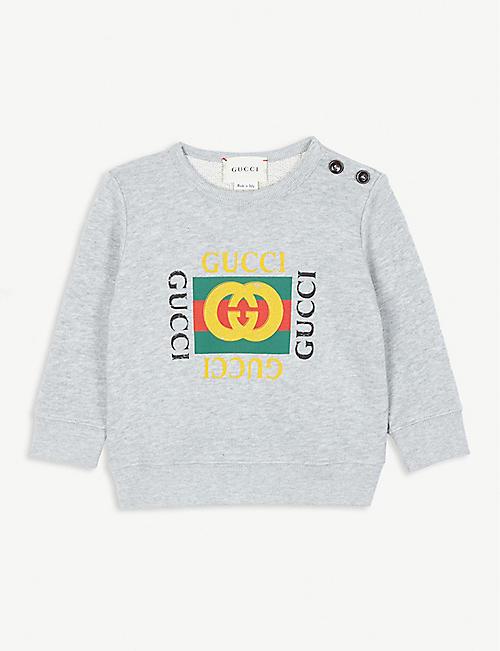 8b7d17795 GUCCI Vintage logo cotton sweatshirt 3-36 months